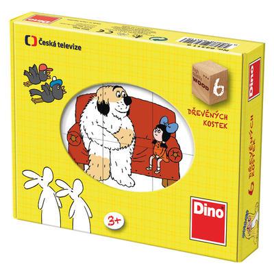 Dino Dřevěné kostky pohádky 6 ks