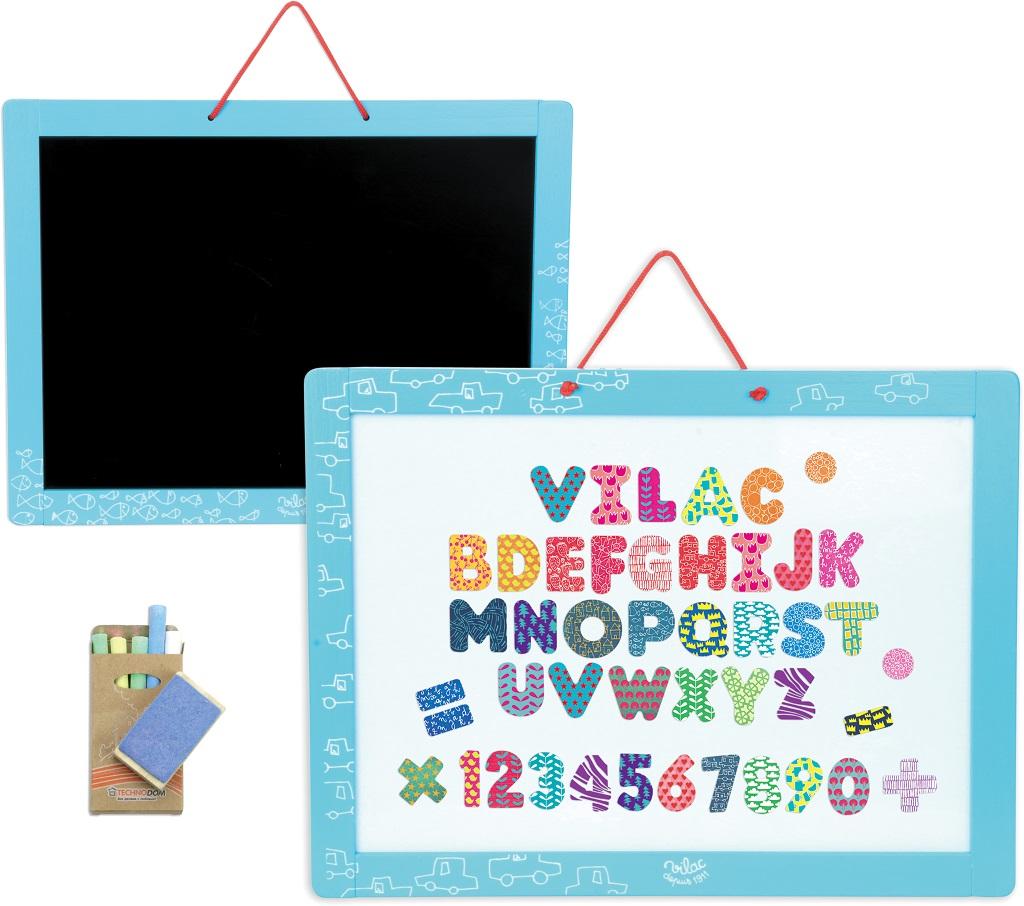 Vilac - Magnetická oboustranná tabule s abecedou a čísly