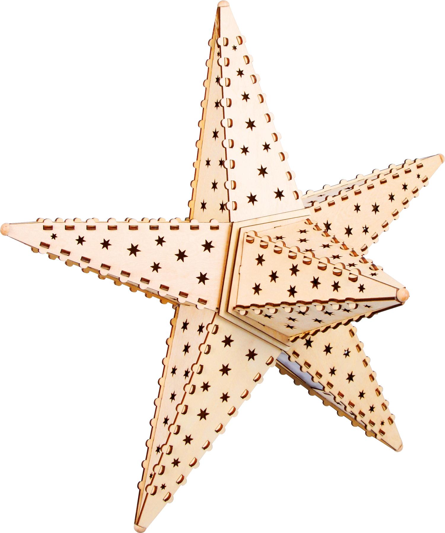 Small Foot Dřevěná svítící hvězda Nature