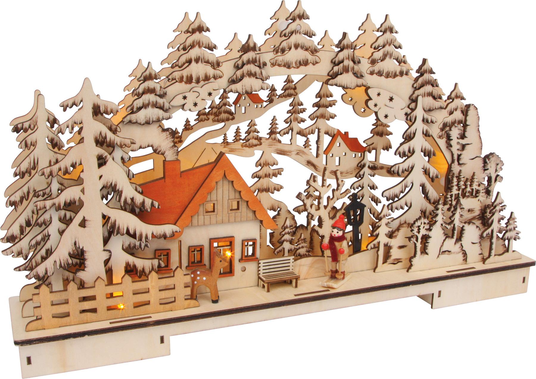 Small Foot Vánoční svítící dekorace zmní krajina