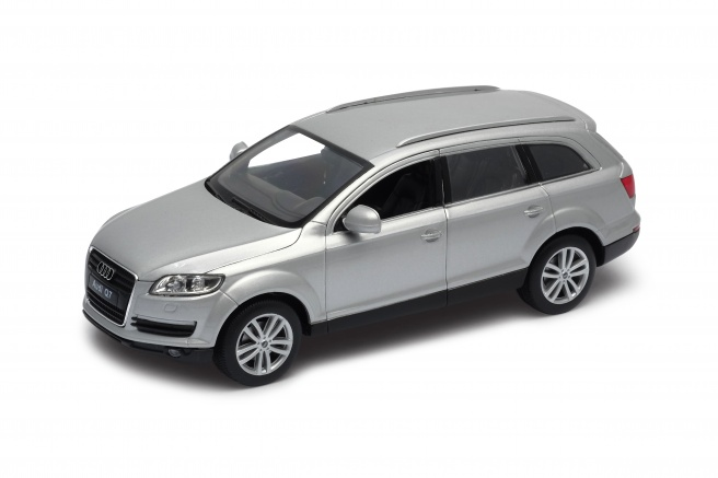 Welly - Audi Q7 model 1:24 stříbrný