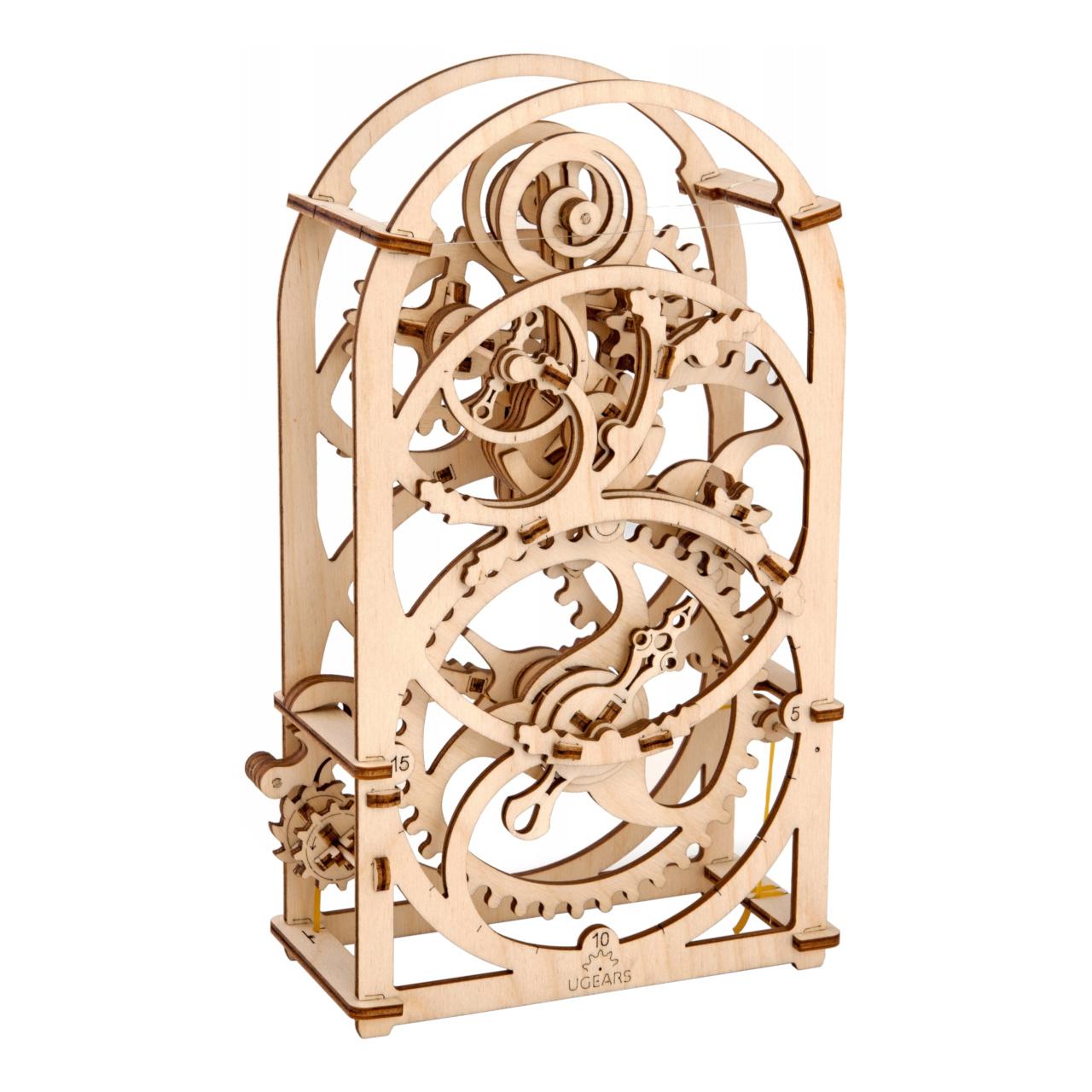 Ugears 3D dřevěné mechanické puzzle Hodinový strojek