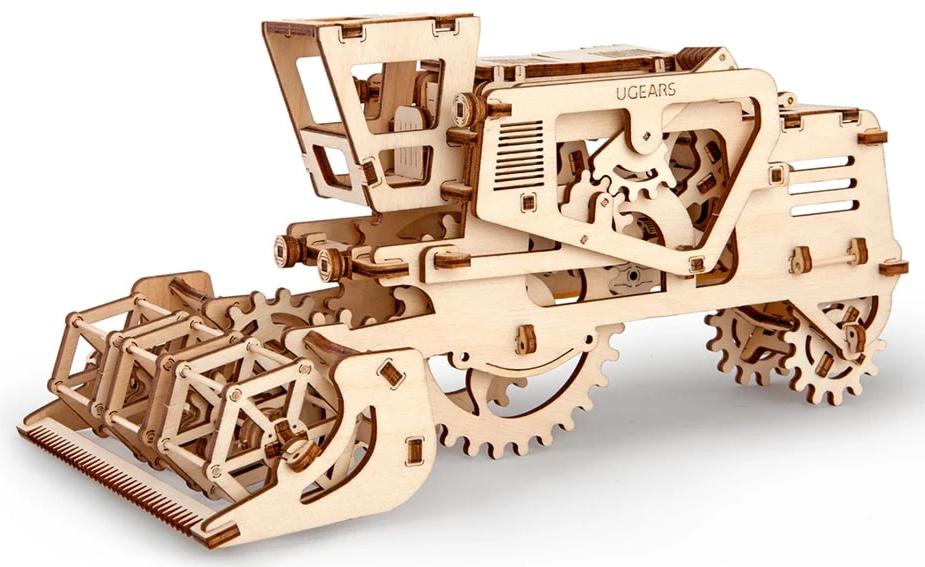 Ugears 3D dřevěné mechanické puzzle Kombajn