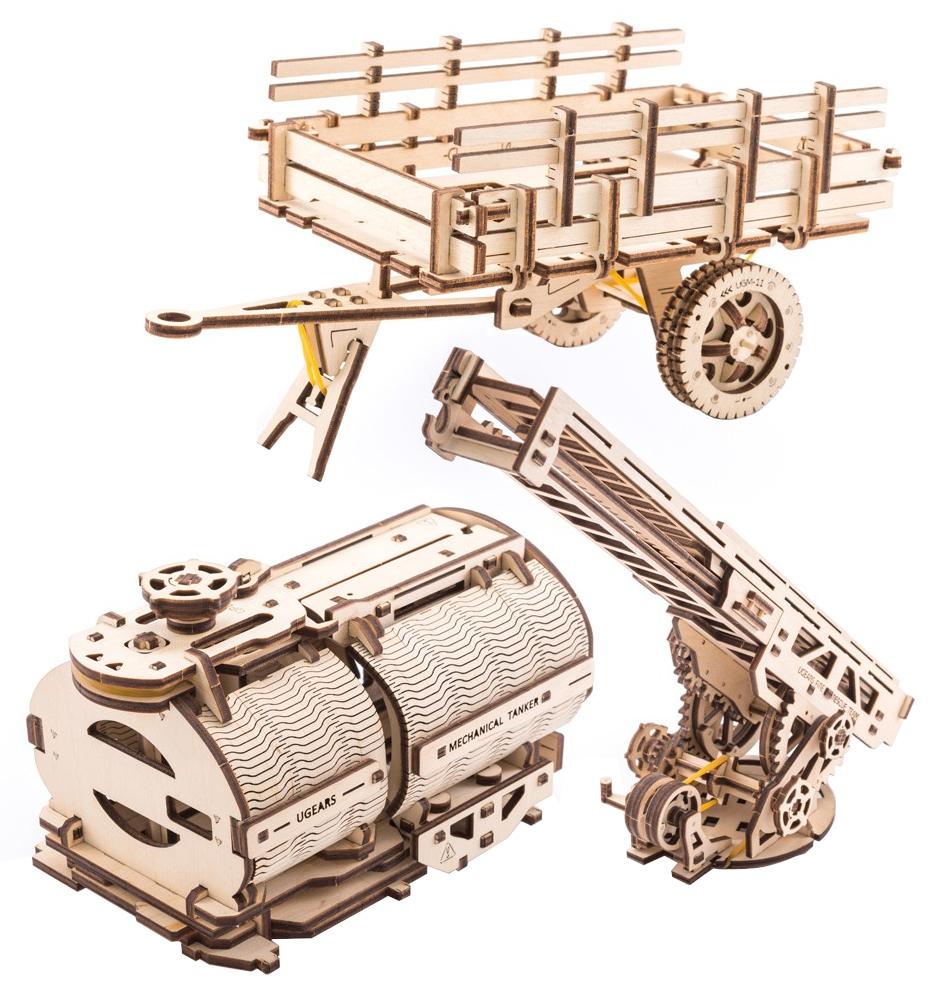 Ugears 3D dřevěné mechanické puzzle Sada příslušenství pro náklaďák UGM-11