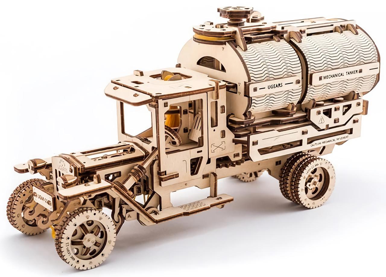 Ugears 3D dřevěné mechanické puzzle UGM-11 Náklaďák s cisternou