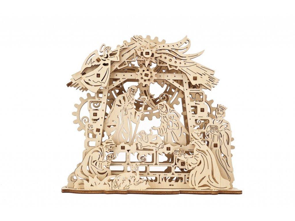 Ugears 3D dřevěné mechanické puzzle Betlém