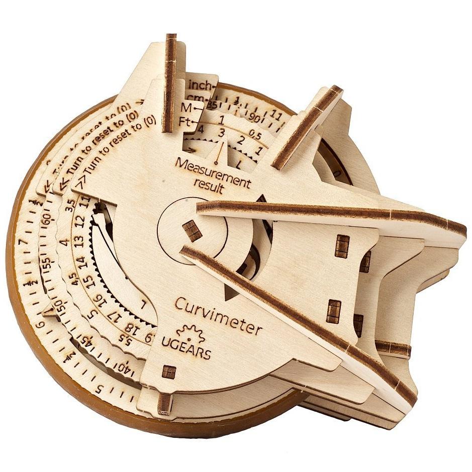 Ugears 3D dřevěné mechanické puzzle STEM křivkoměr (opisometr)