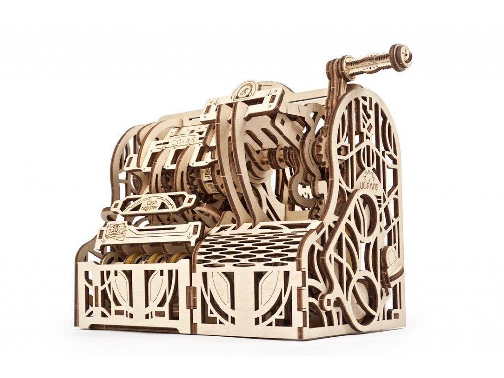 Ugears 3D dřevěné mechanické puzzle pokladna