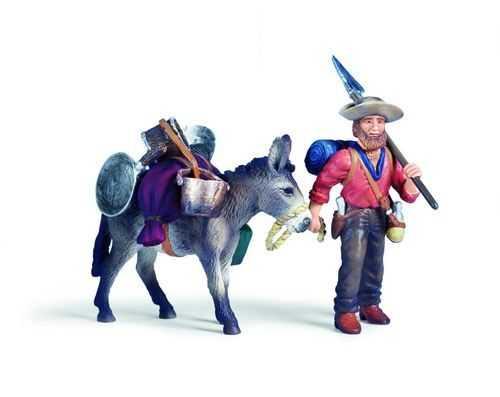 Indiáni a kovbojové Schleich - Zlatokop s oslem