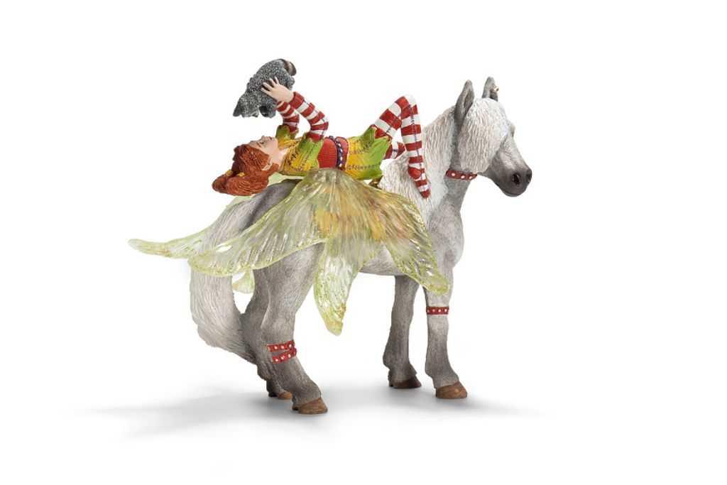 Figurka Schleich - Elf Marvin na koni