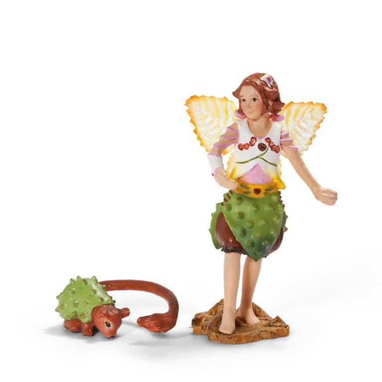 Figurka Schleich - Kaštanová Elfí víla s kaštánkem