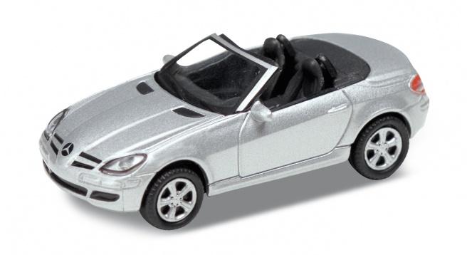 Welly - Mercedes SLK 350 kabriolet 1:24 stříbrný