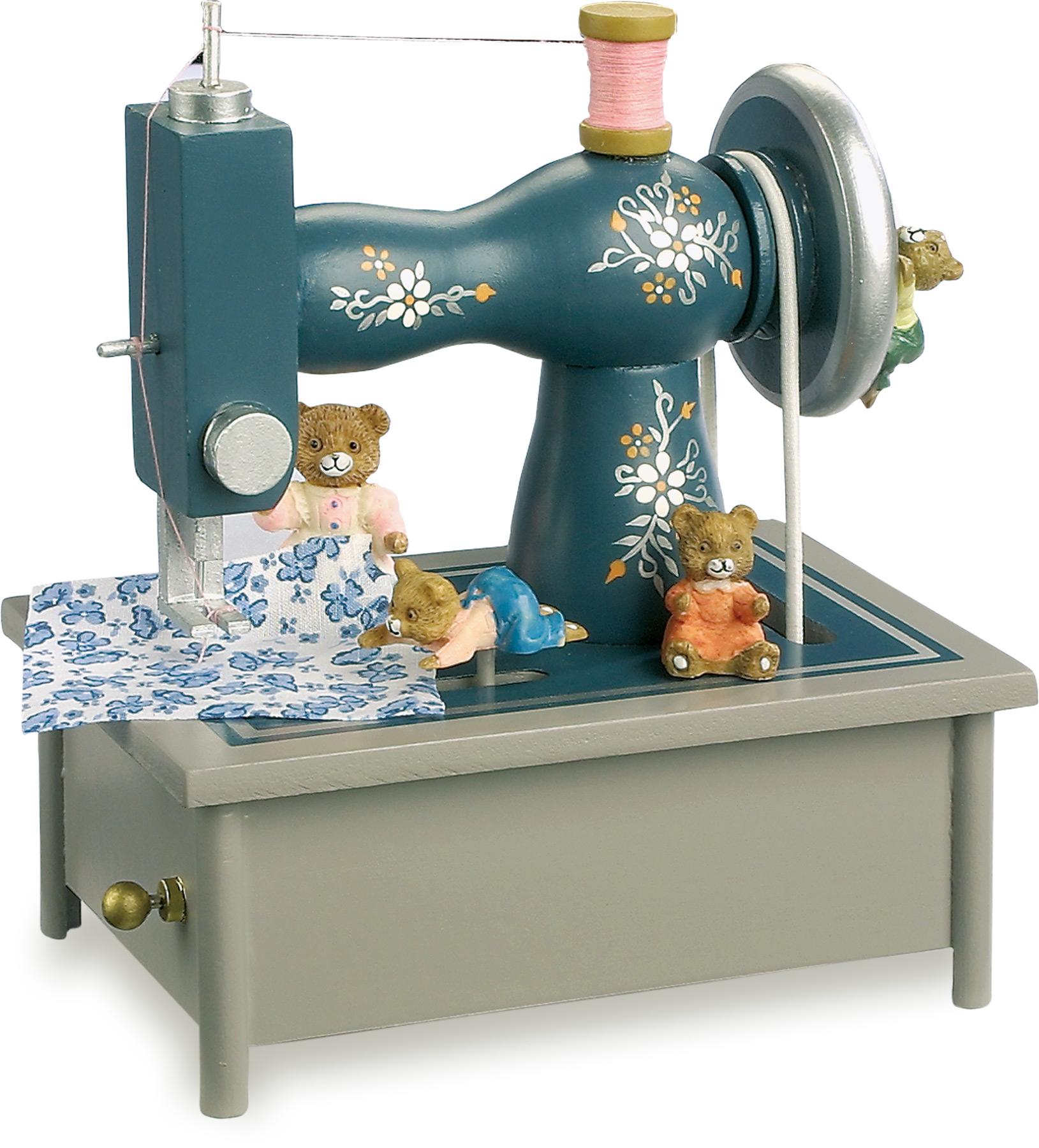 Small Foot Dřevěná hrací skříňka šicí stroj