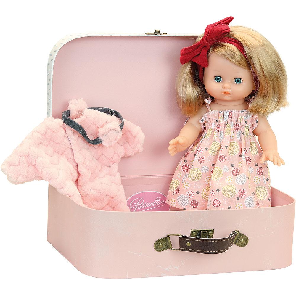 Petitcollin Panenka 28 cm v kufříku Câlinette Elsa
