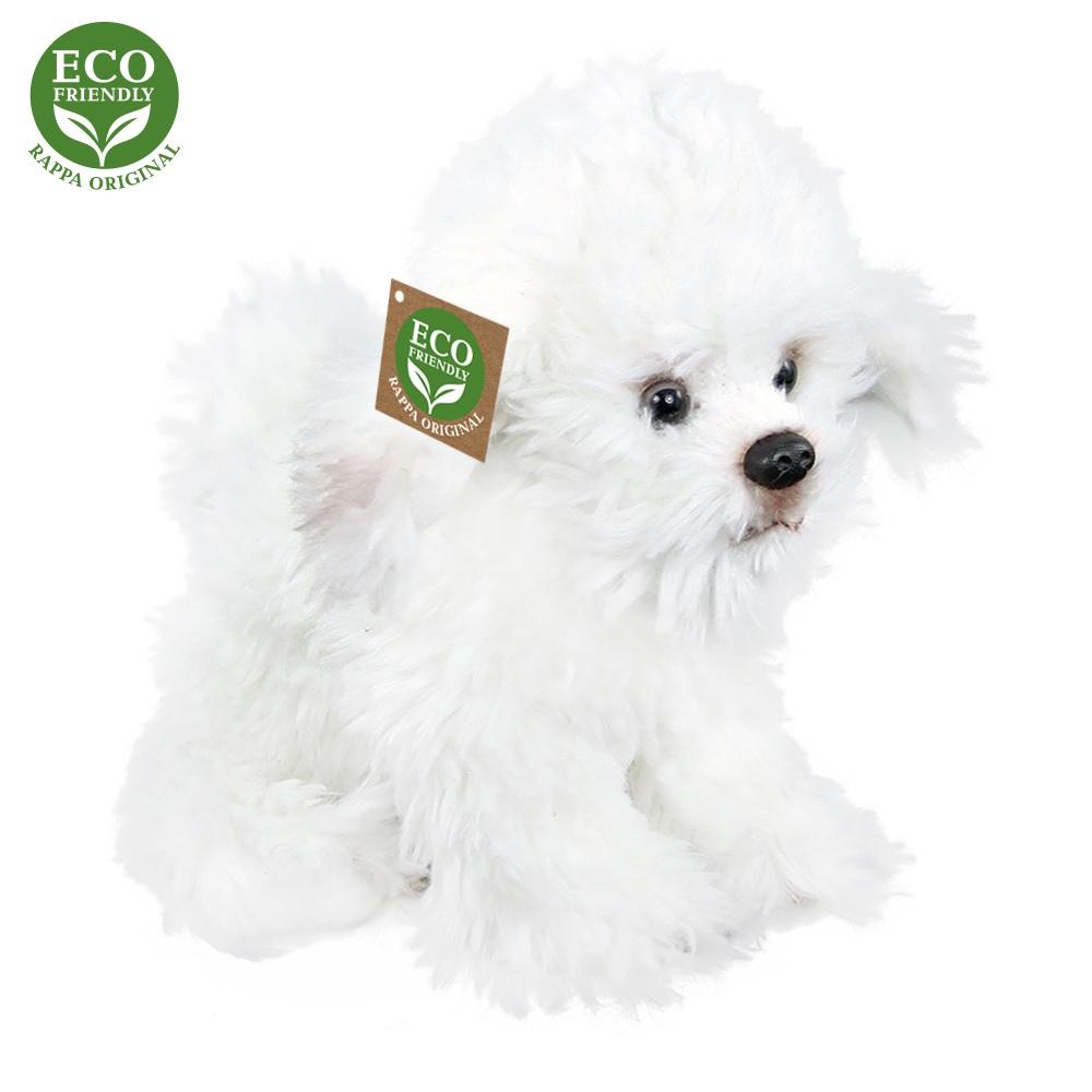 Rappa Plyšový pes bišonek sedící 26 cm ECO-FRIENDLY