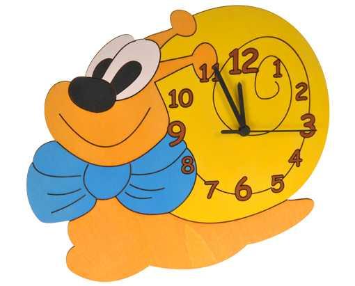 DoDo Dětské dřevěné hodiny šnek