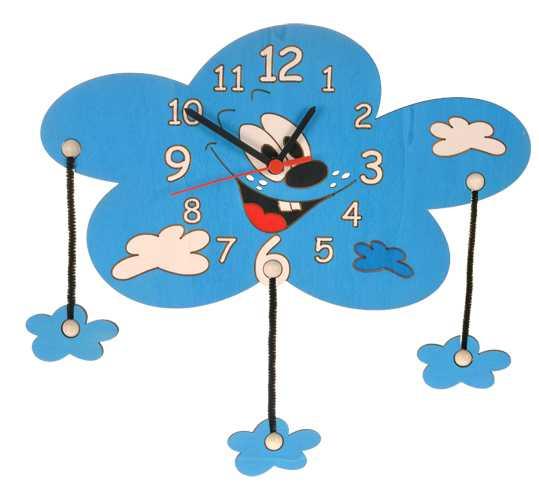 DoDo Dětské dřevěné hodiny mrak s mráčky