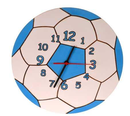 DoDo Dětské dřevěné hodiny míč
