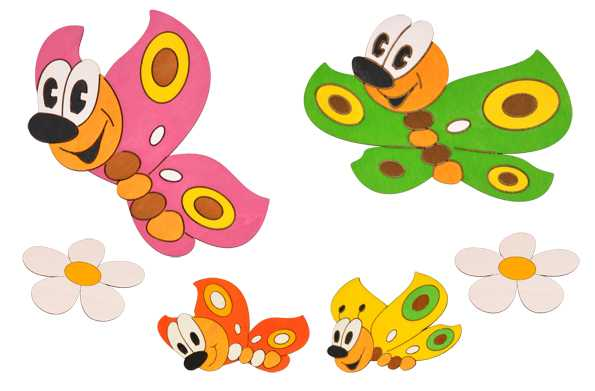 Dřevěné dekorace - Sestavy dekorací Motýlci 2