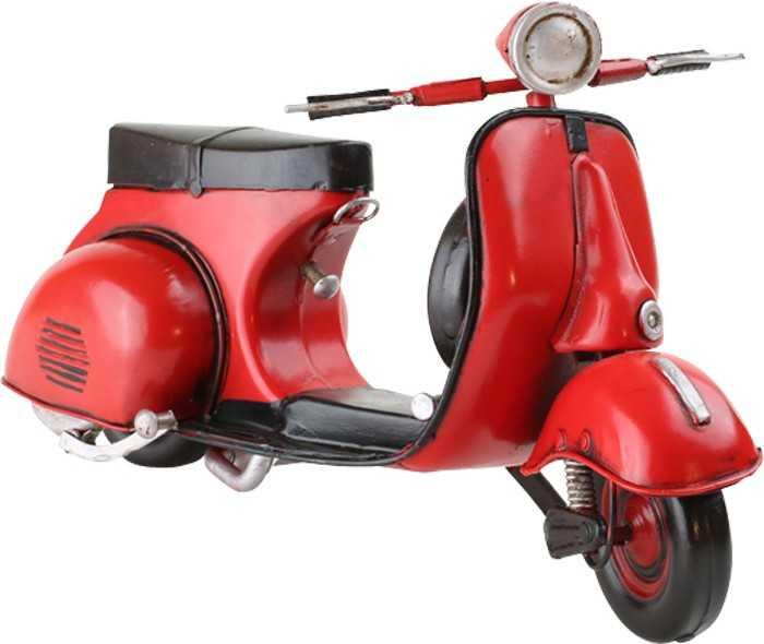 Červený skútr - dekorace Vintage