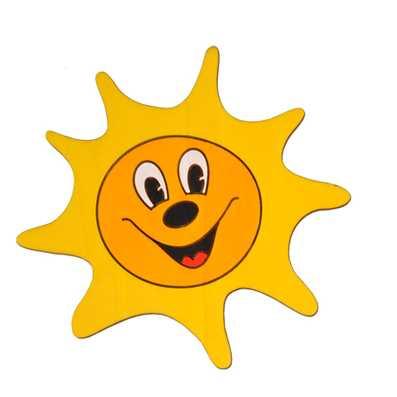 Dřevěné dekorace - Střední dekorace Sluníčko