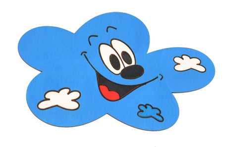 DoDo Střední dřevěná dekorace mrak