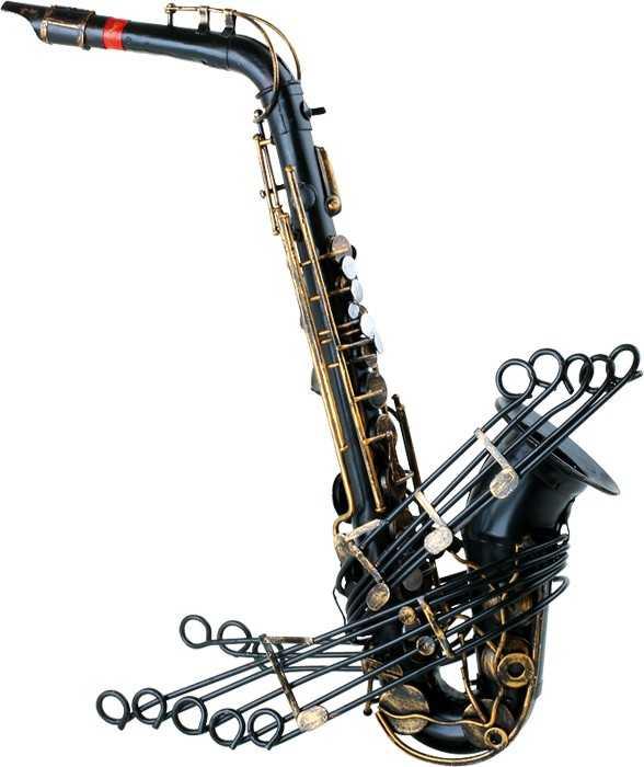 Small Foot Dekorace Vintage saxofon