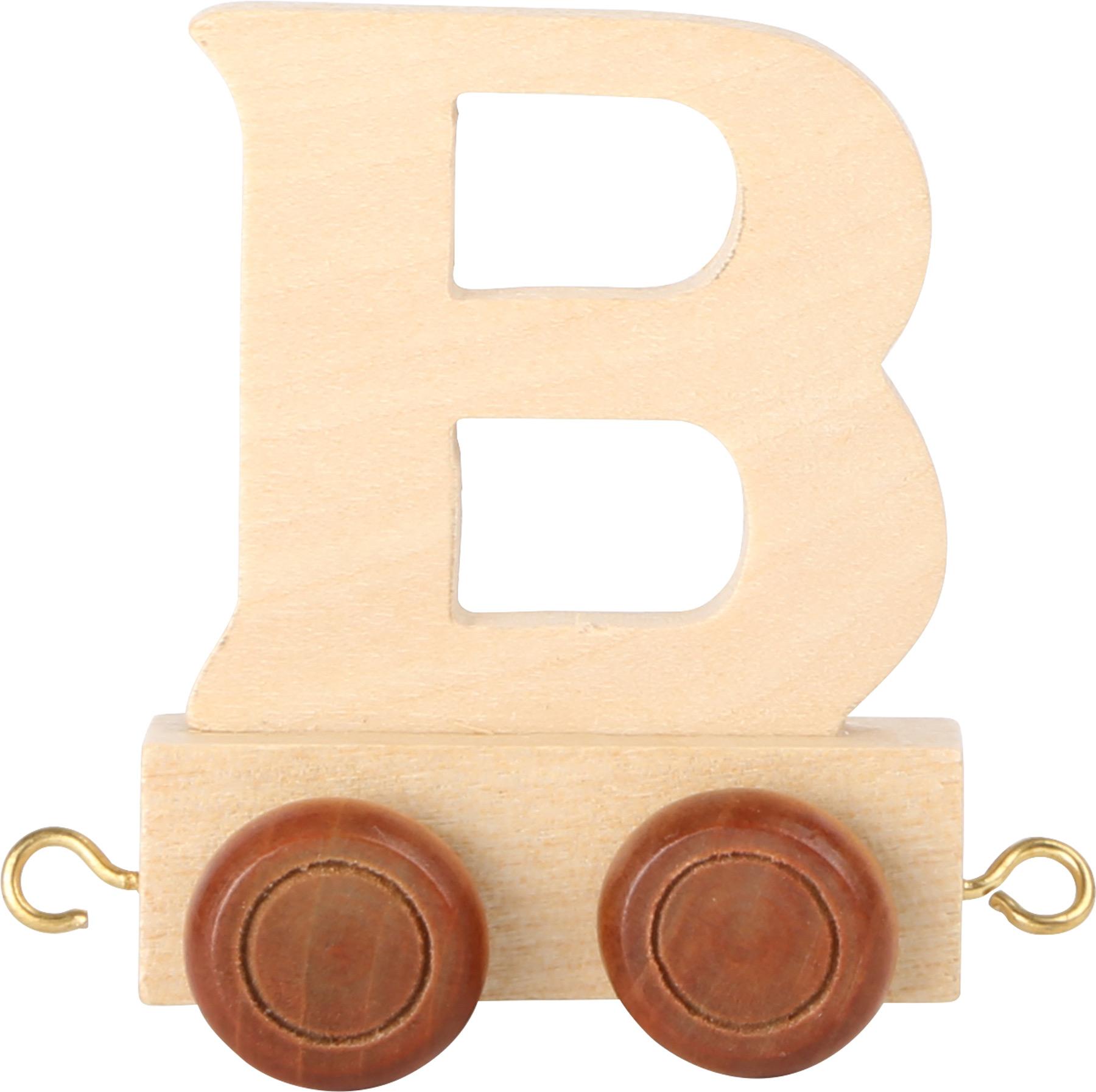 Dřevěný vláček vláčkodráhy abeceda písmeno B