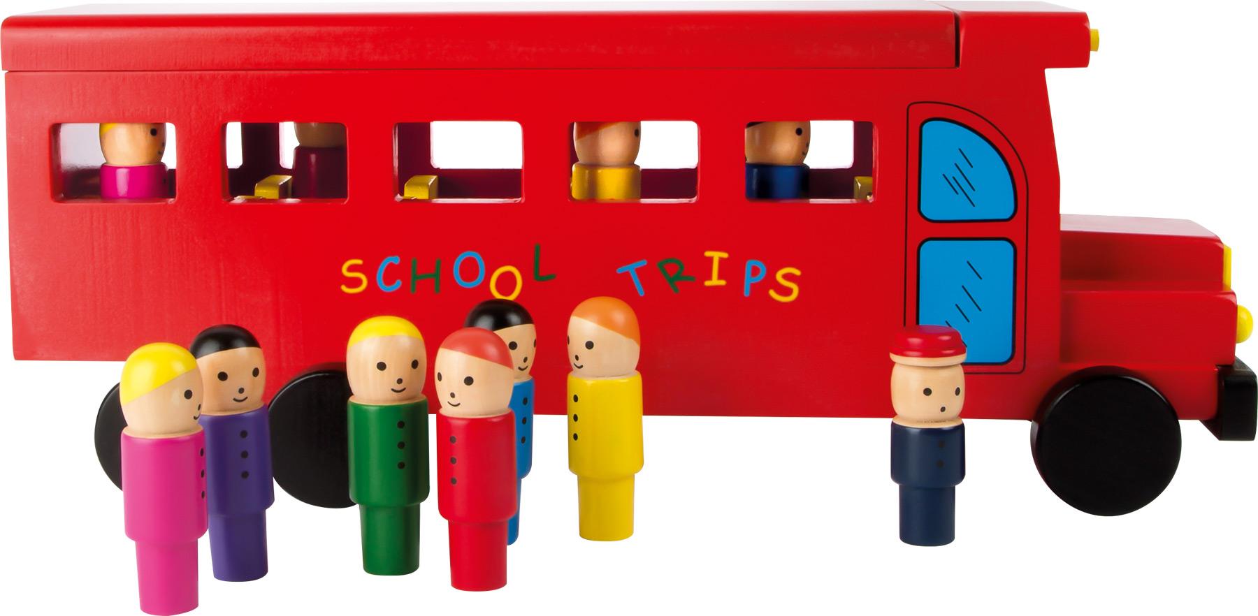 Small Foot Dřevěný školní  autobus