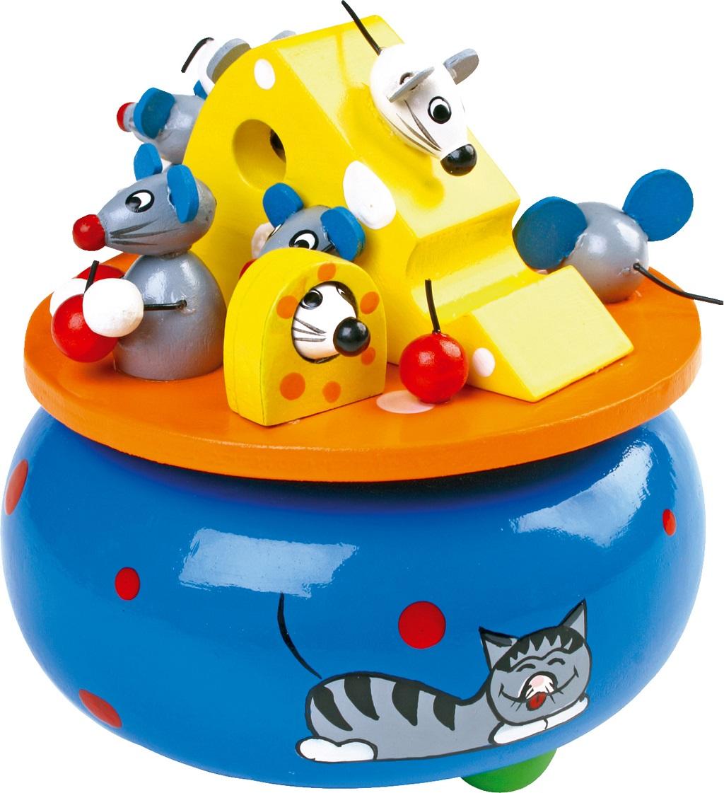 Small Foot Dřevěná hrací skříňka Myši