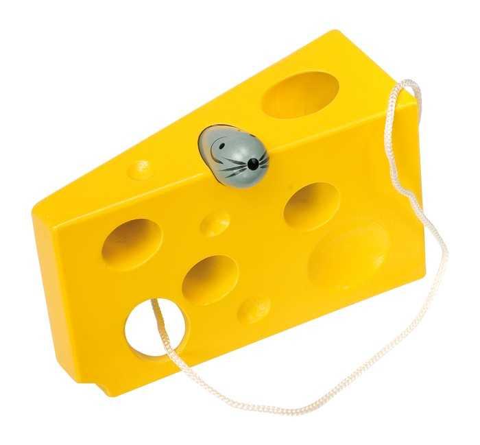 Small Foot Hra na provlékání sýr s myší žlutá verze