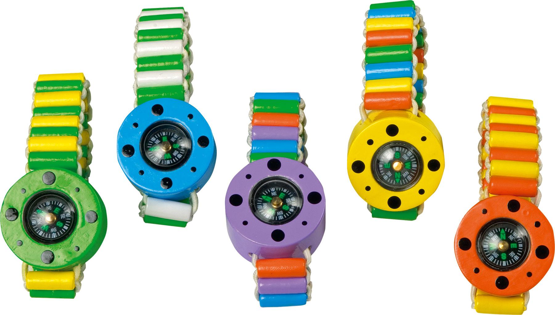 Small Foot Dřevěný barevný náramek kompas 5 ks