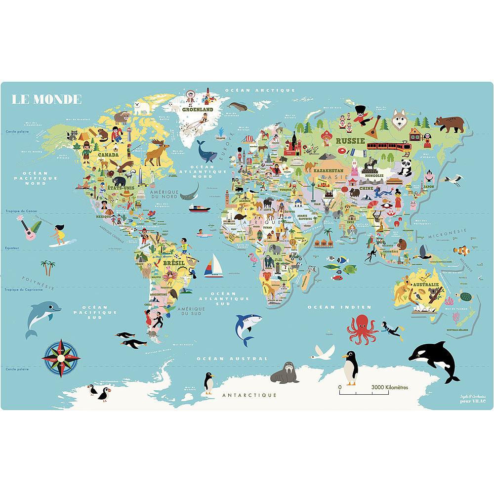 Vilac Magnetická mapa světa Ingela