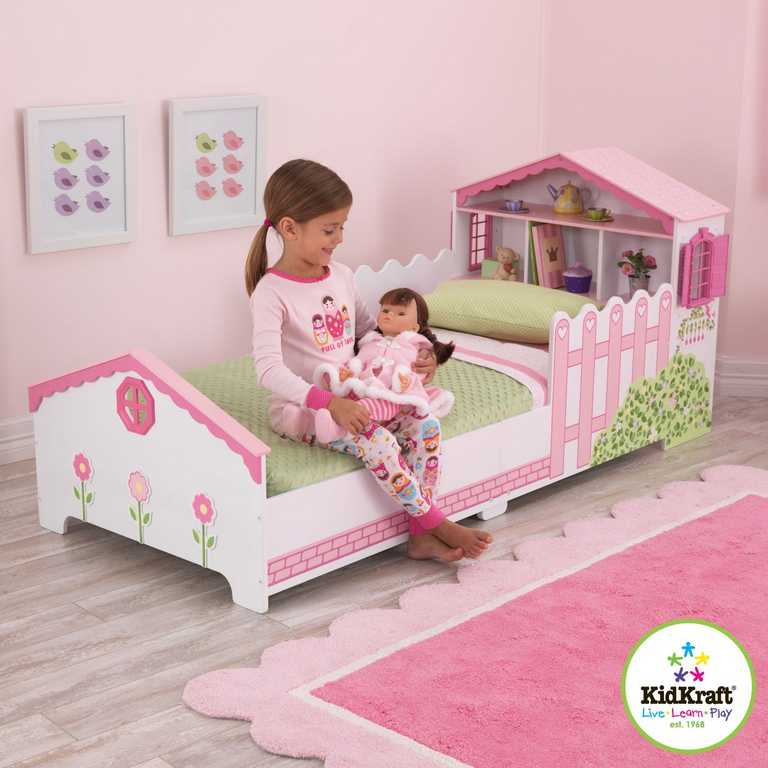 KidKraft Postel s domečkem pro panenky