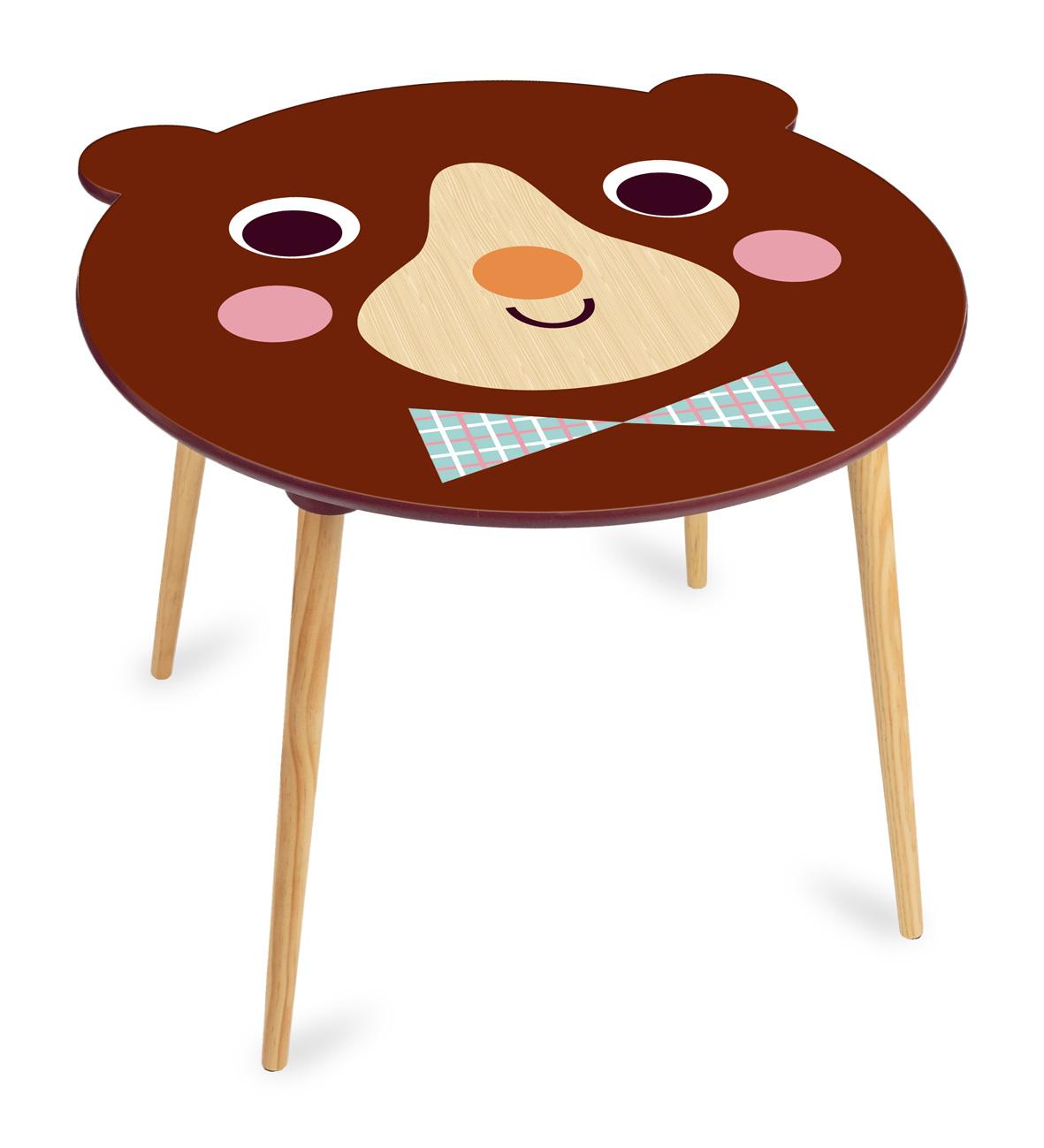 Vilac Dřevěný stoleček medvídek