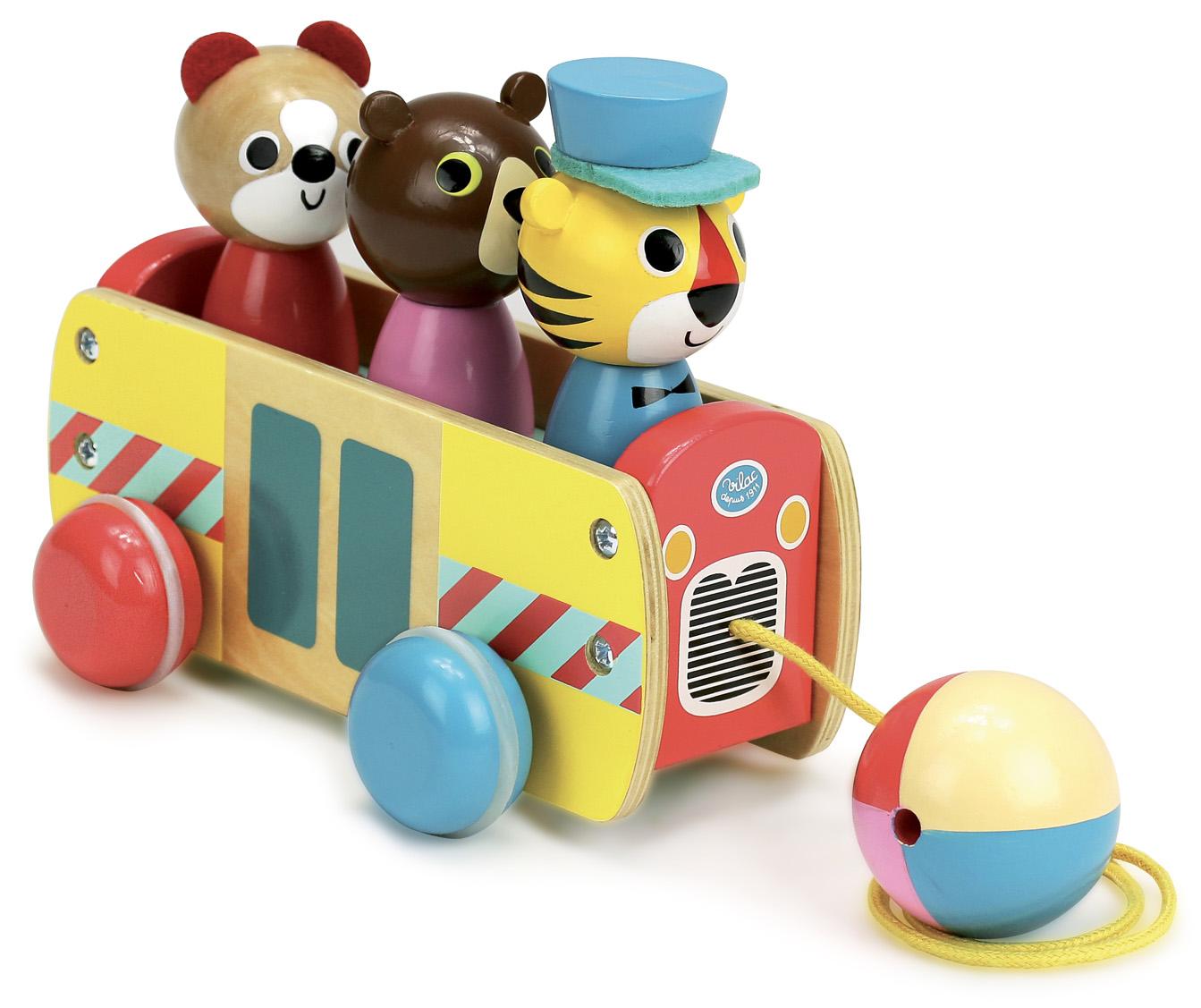 Vilac Tahací autobus se zvířátky