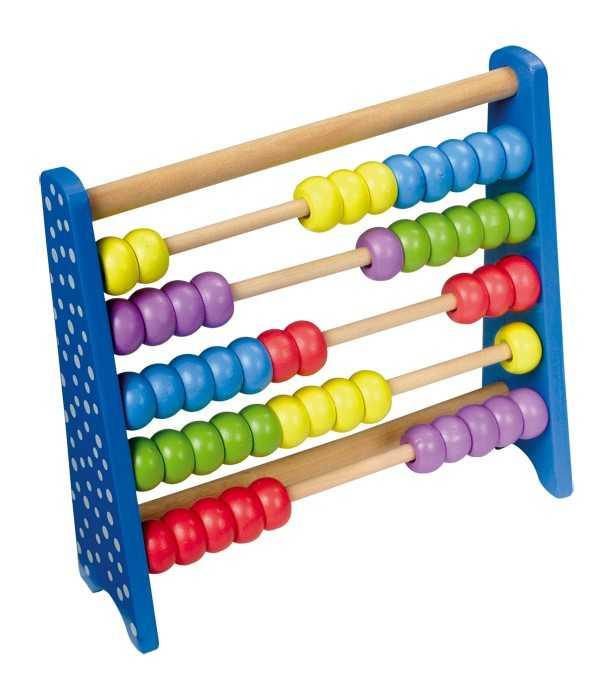 Dřevěné školní pomůcky - Kuličkové počítadlo, barevné