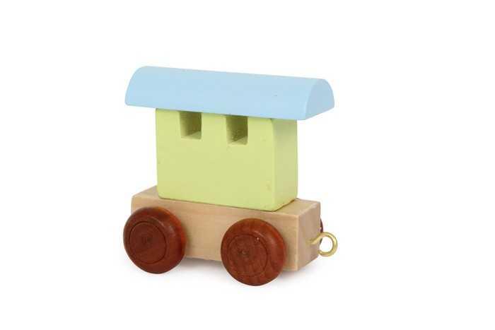 Dřevěné hračky - Vláček abeceda - Barevný vagónek