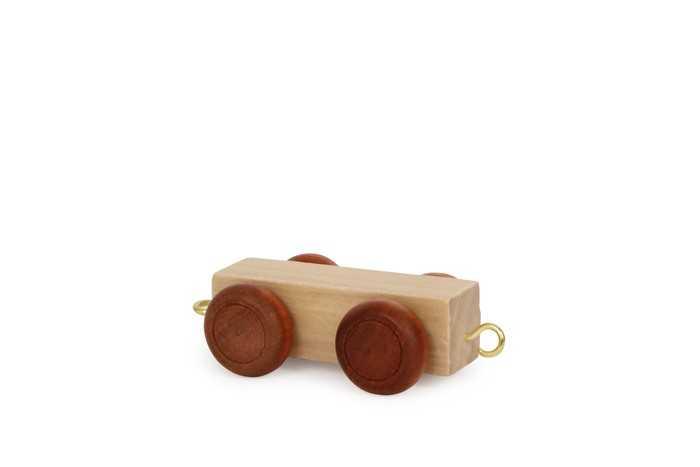 Dřevěné hračky - Vláček abeceda - Plochý vagónek