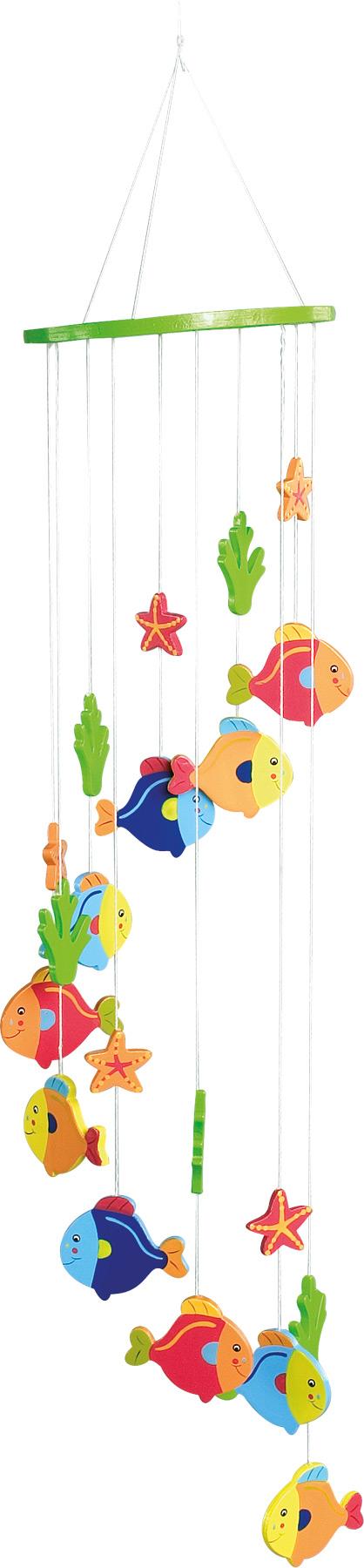 Small Foot Dřevěná závěsná dekorace rybičky