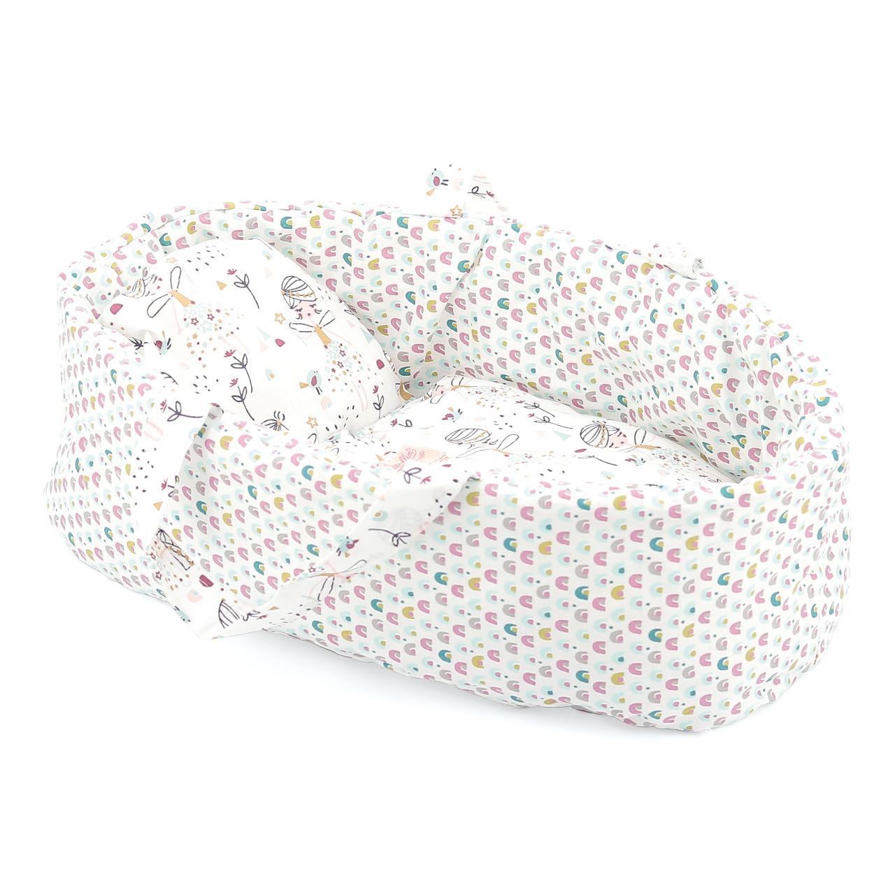 Petitcollin Přenosná taška bílo-růžová (pro panenku 36 cm)