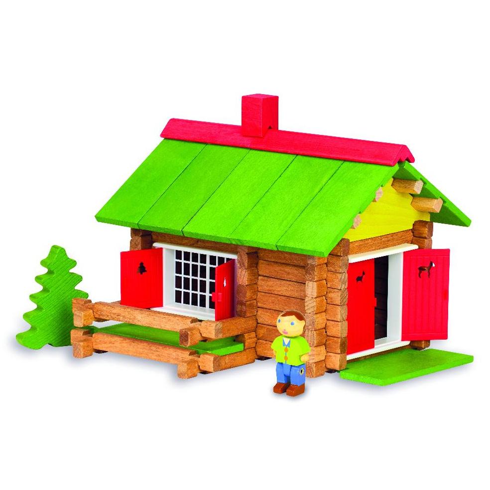 Jeujura Dřevěná stavebnice 100 dílů