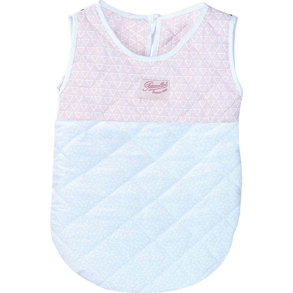 Petitcollin Spací pytel růžovo-bílý pro panenky vel. 36/40