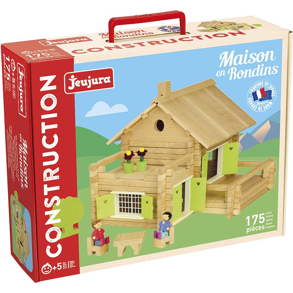 Jeujura Dřevěná stavebnice 175 dílků velký dům