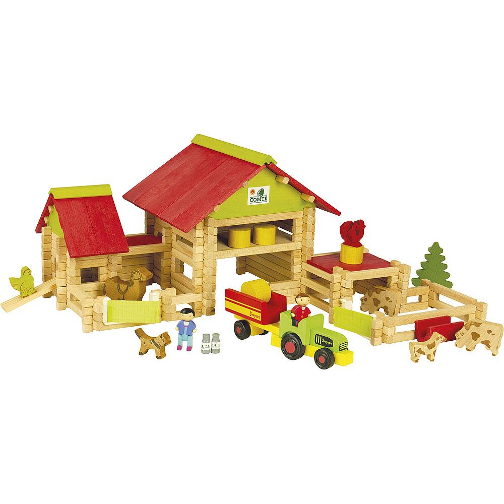 Jeujura Velká farma s traktorem a zvířátky 220ks