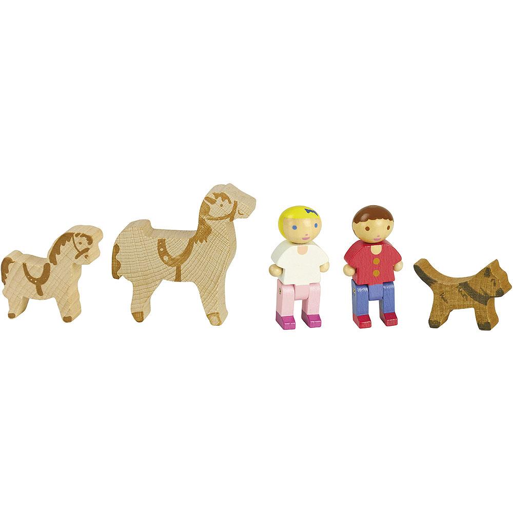 Jeujura Dřevěné postavičky a koně