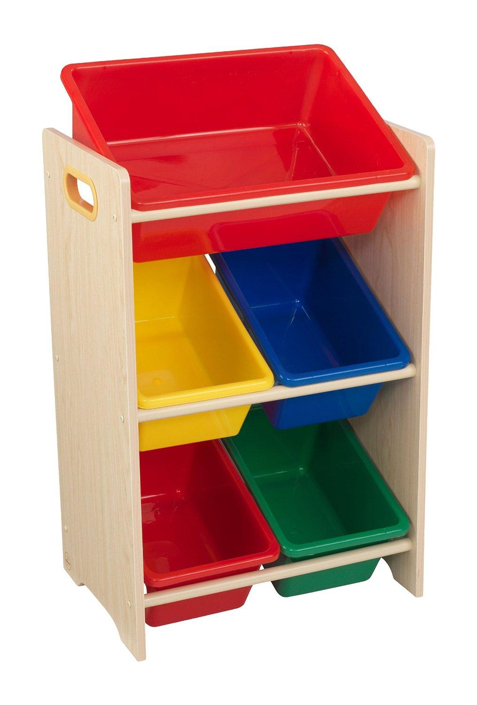 KidKraft Úložná police na hračky s 5 boxy