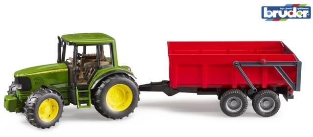 Bruder Traktor Johnd Deere a  sklápěcí valník