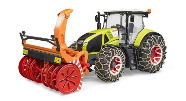 Bruder Traktor Class Axion 950 se sněhovou frézou