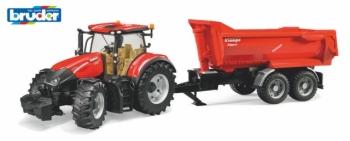 Bruder Traktor Case IH Optum 300 CVX s vozem Krampe